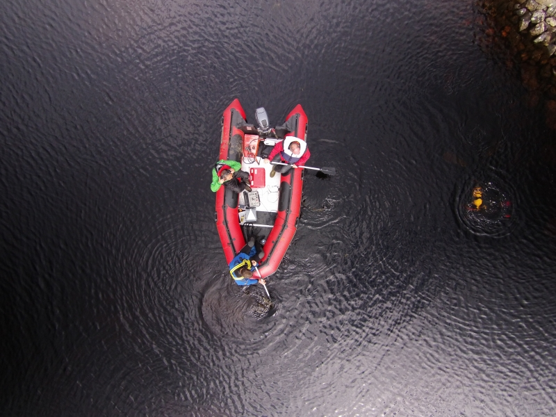 The boat from above